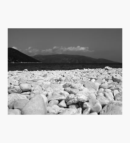 Kefalonia Pebble Beach Photographic Print