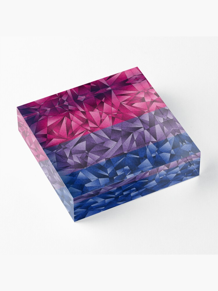 Alternate view of Abstract Bisexual Flag Acrylic Block