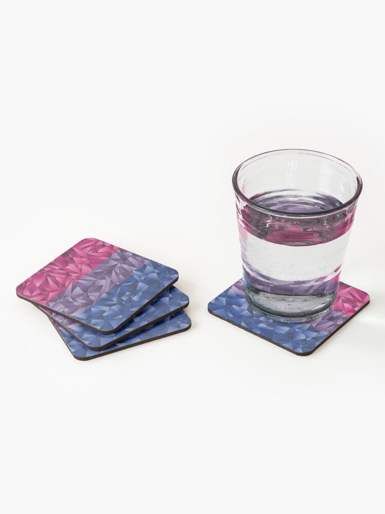 Alternate view of Abstract Bisexual Flag Coasters (Set of 4)
