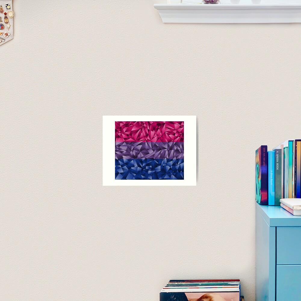 Abstract Bisexual Flag Art Print