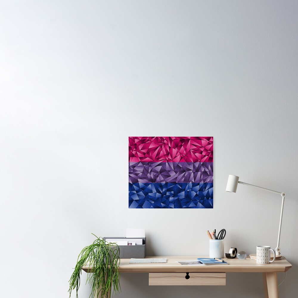 Abstract Bisexual Flag Poster