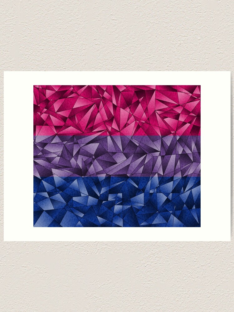 Alternate view of Abstract Bisexual Flag Art Print