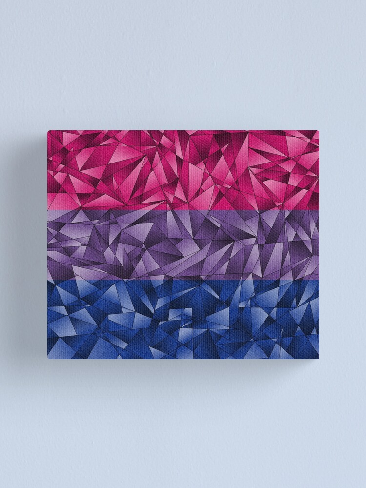 Alternate view of Abstract Bisexual Flag Canvas Print