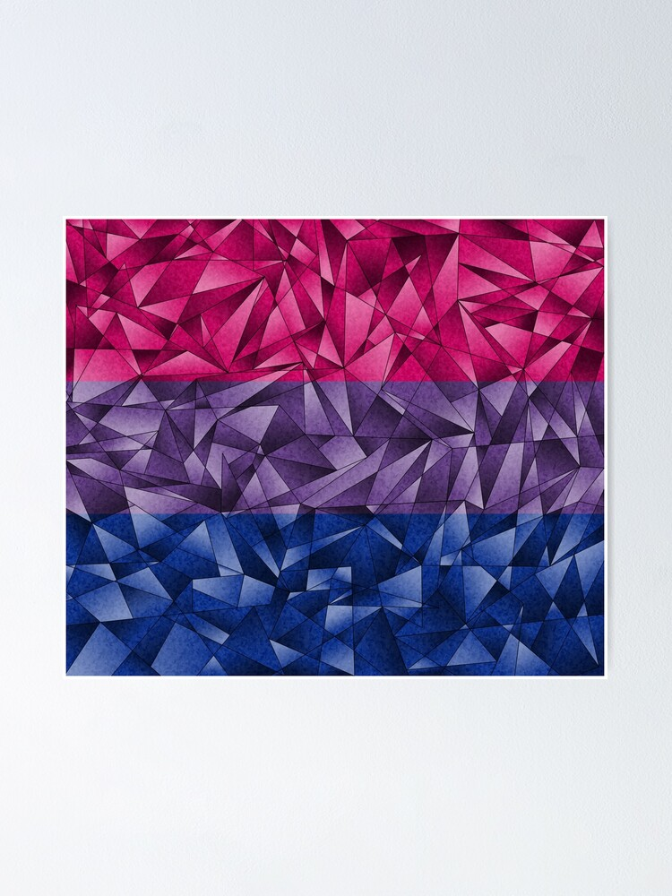 Alternate view of Abstract Bisexual Flag Poster