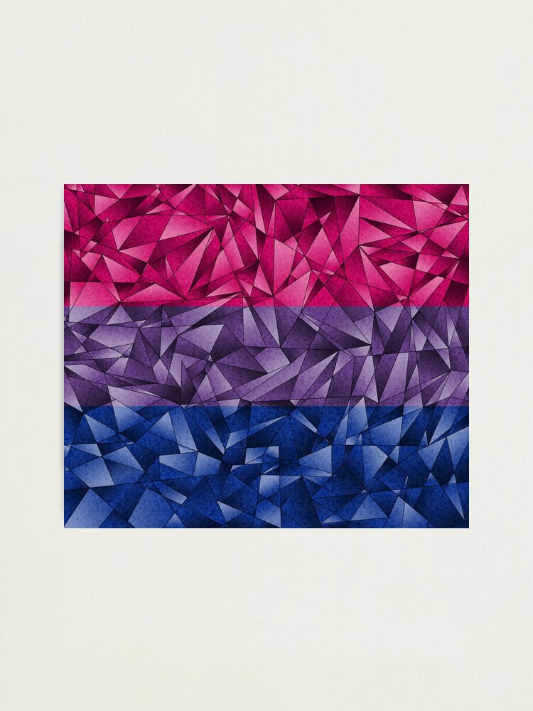 Alternate view of Abstract Bisexual Flag Photographic Print