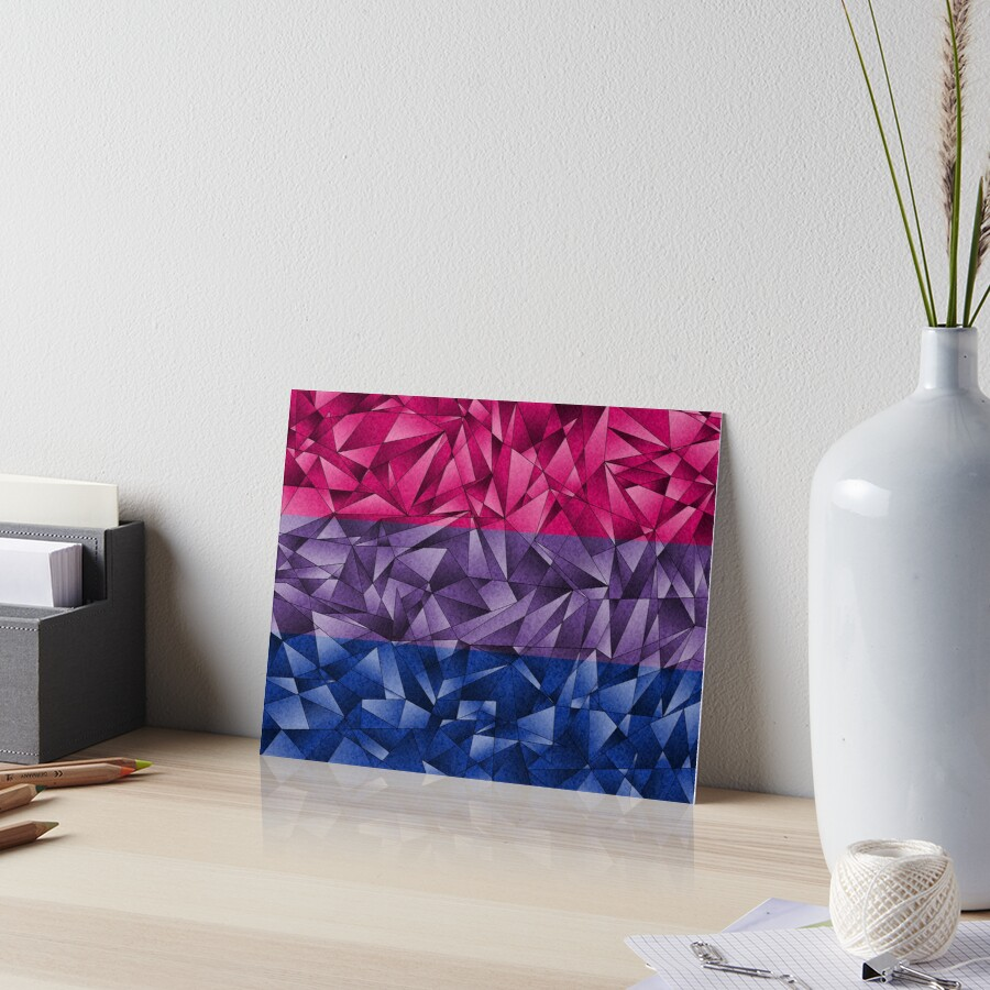 Abstract Bisexual Flag Art Board Print
