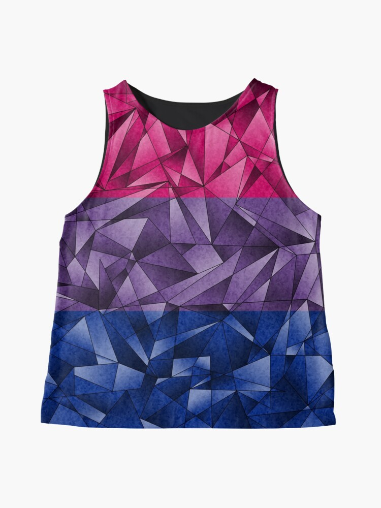 Alternate view of Abstract Bisexual Flag Sleeveless Top