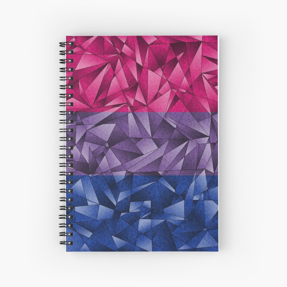 Abstract Bisexual Flag Spiral Notebook