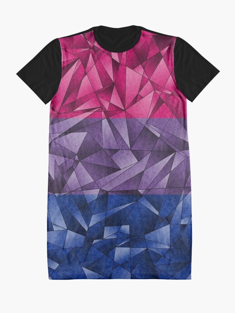 Alternate view of Abstract Bisexual Flag Graphic T-Shirt Dress