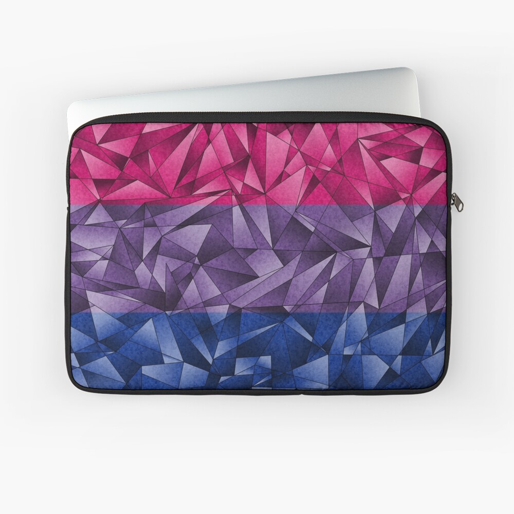 Abstract Bisexual Flag Laptop Sleeve