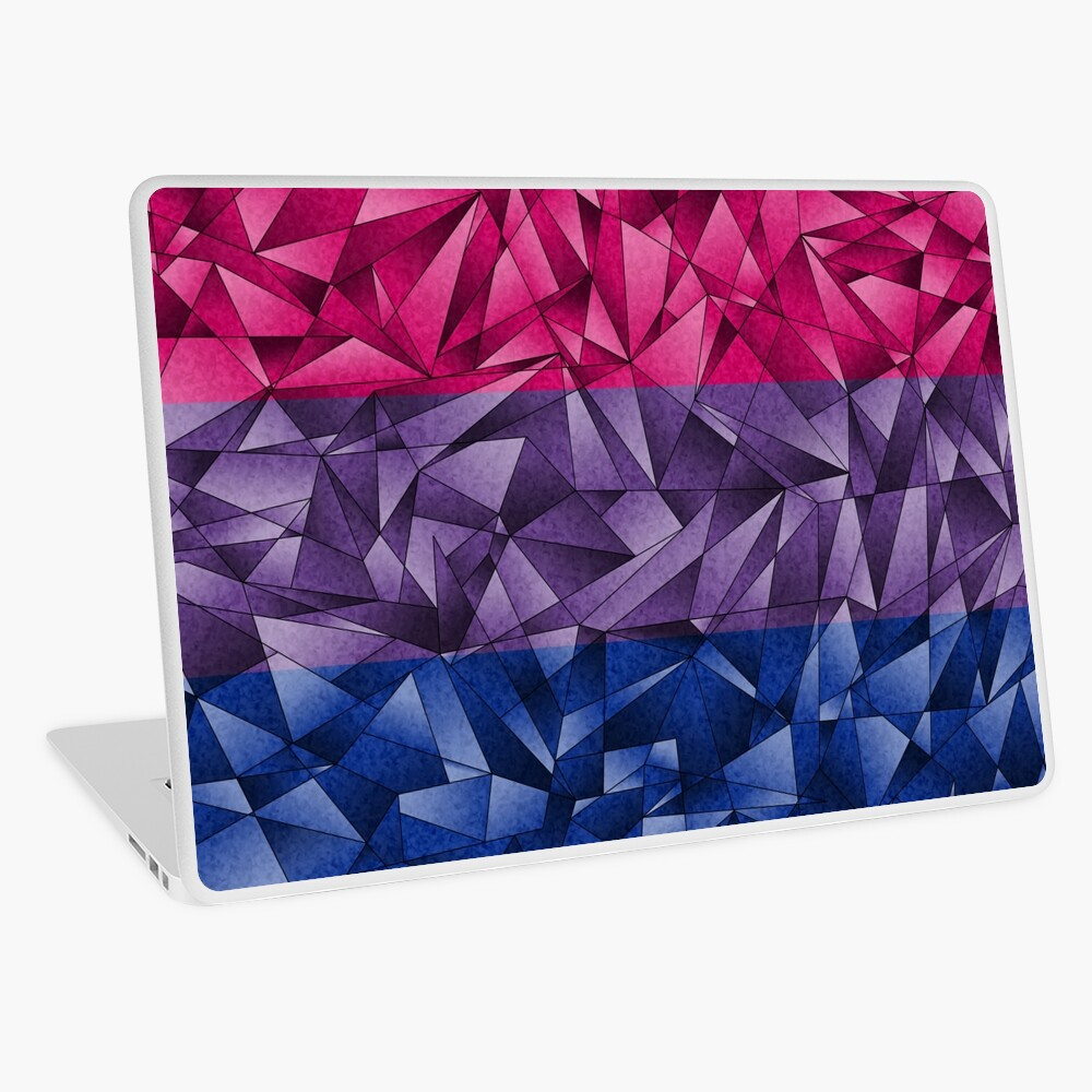Abstract Bisexual Flag Laptop Skin