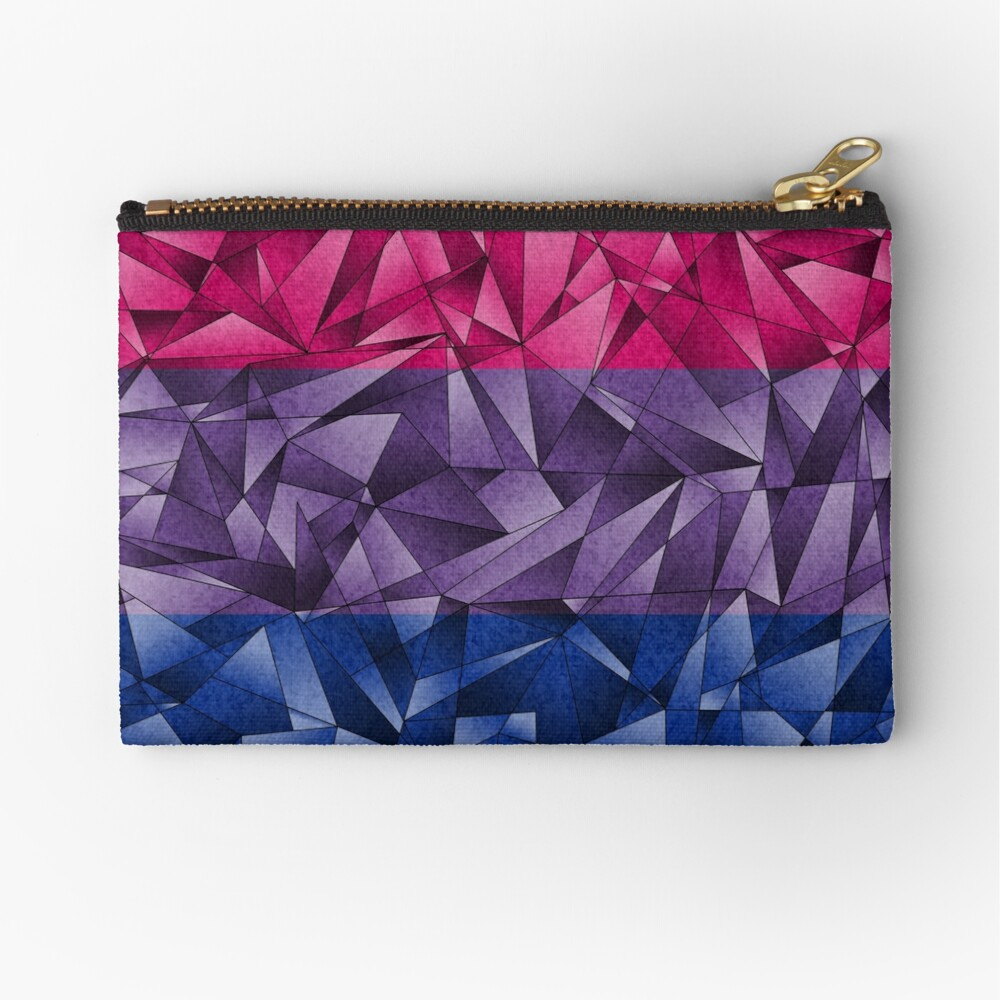 Abstract Bisexual Flag Zipper Pouch