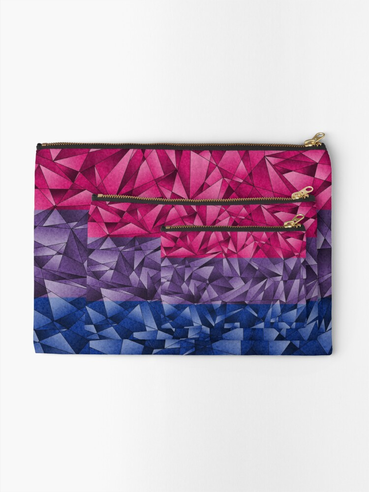 Alternate view of Abstract Bisexual Flag Zipper Pouch