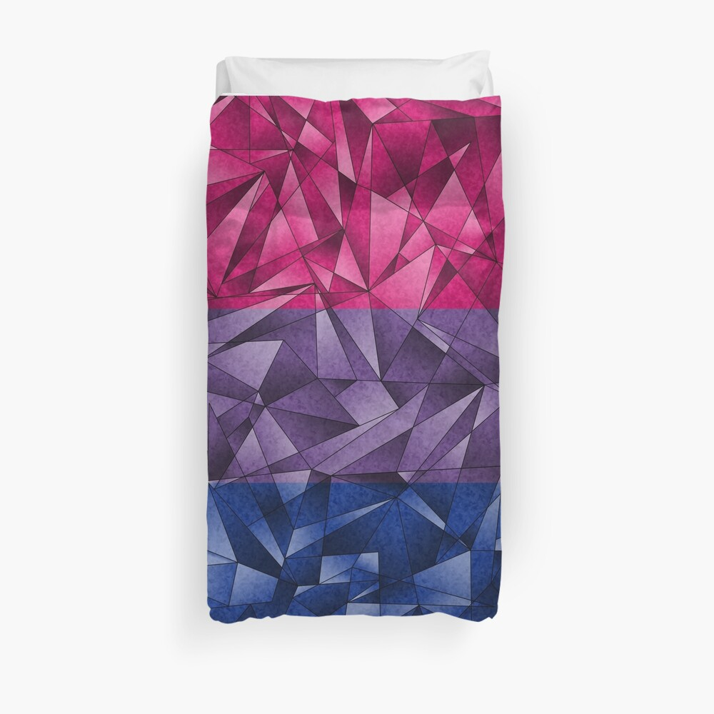 Abstract Bisexual Flag Duvet Cover