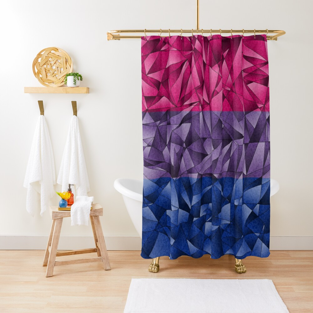 Abstract Bisexual Flag Shower Curtain
