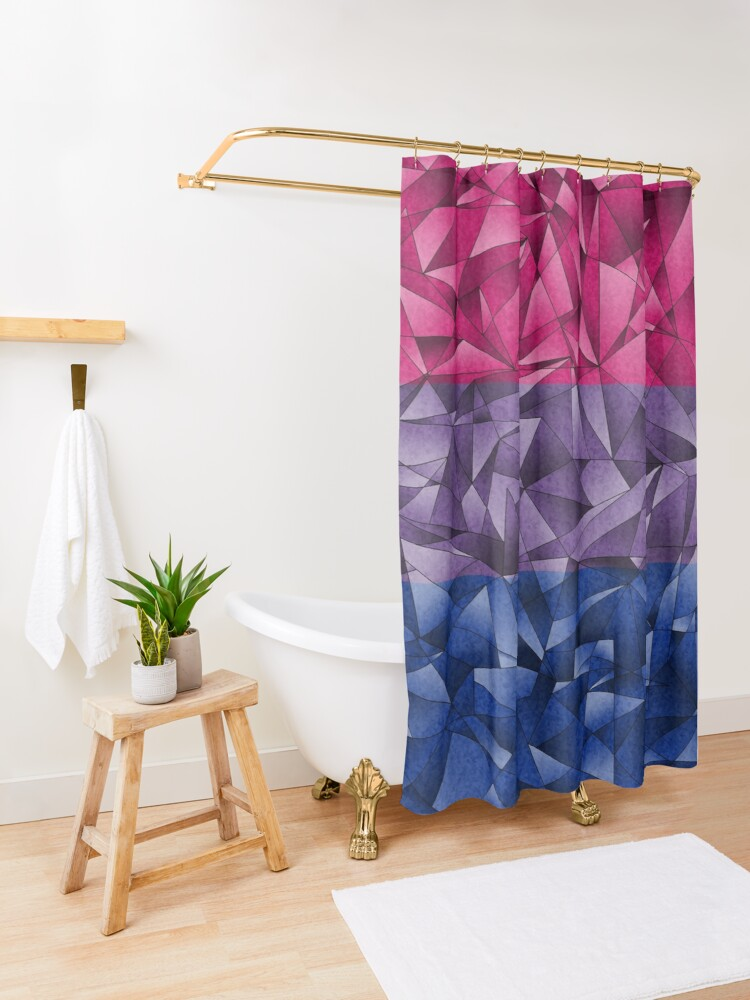 Alternate view of Abstract Bisexual Flag Shower Curtain