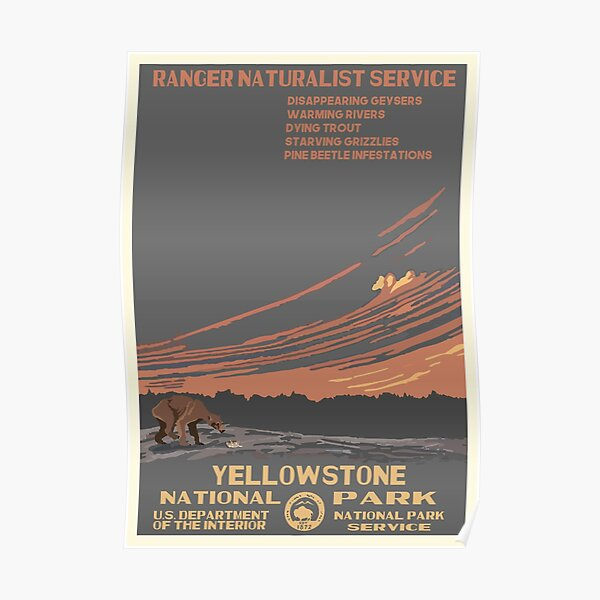 National Parks 2050: Yellowstone Poster