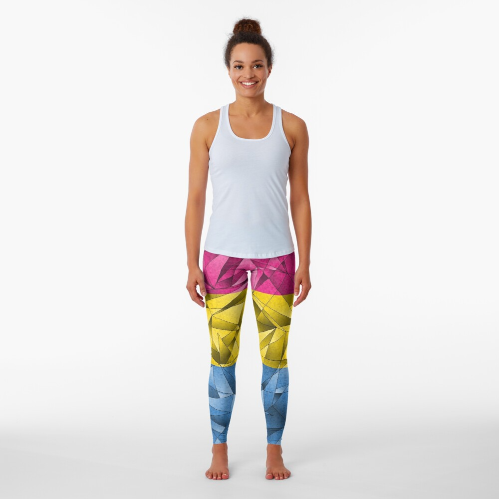 Abstract Pansexual Flag Leggings