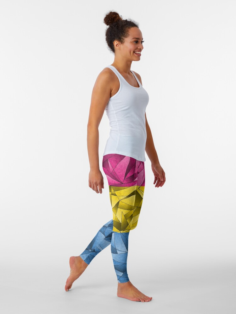 Alternate view of Abstract Pansexual Flag Leggings