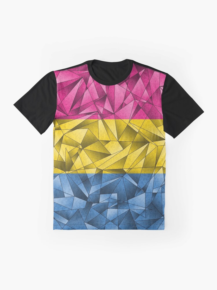 Alternate view of Abstract Pansexual Flag Graphic T-Shirt