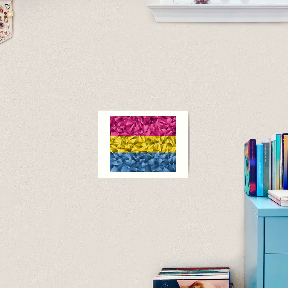 Abstract Pansexual Flag Art Print