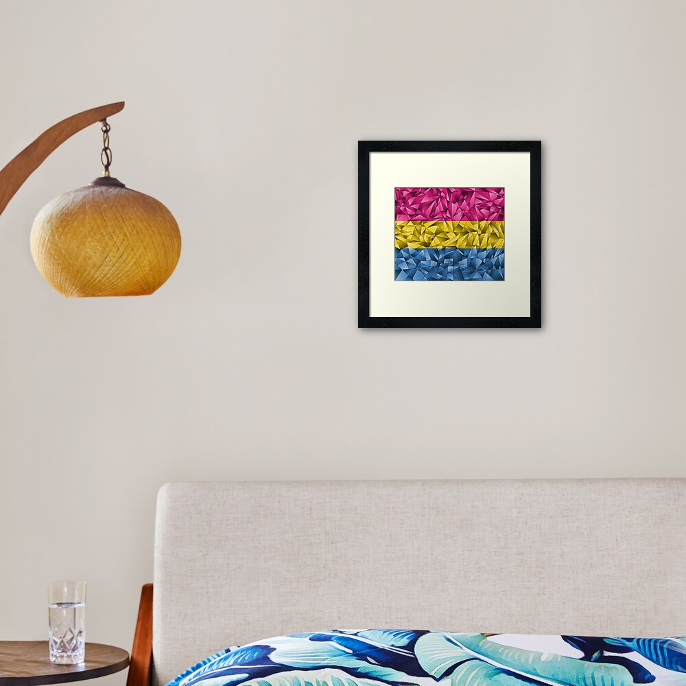 Abstract Pansexual Flag Framed Art Print