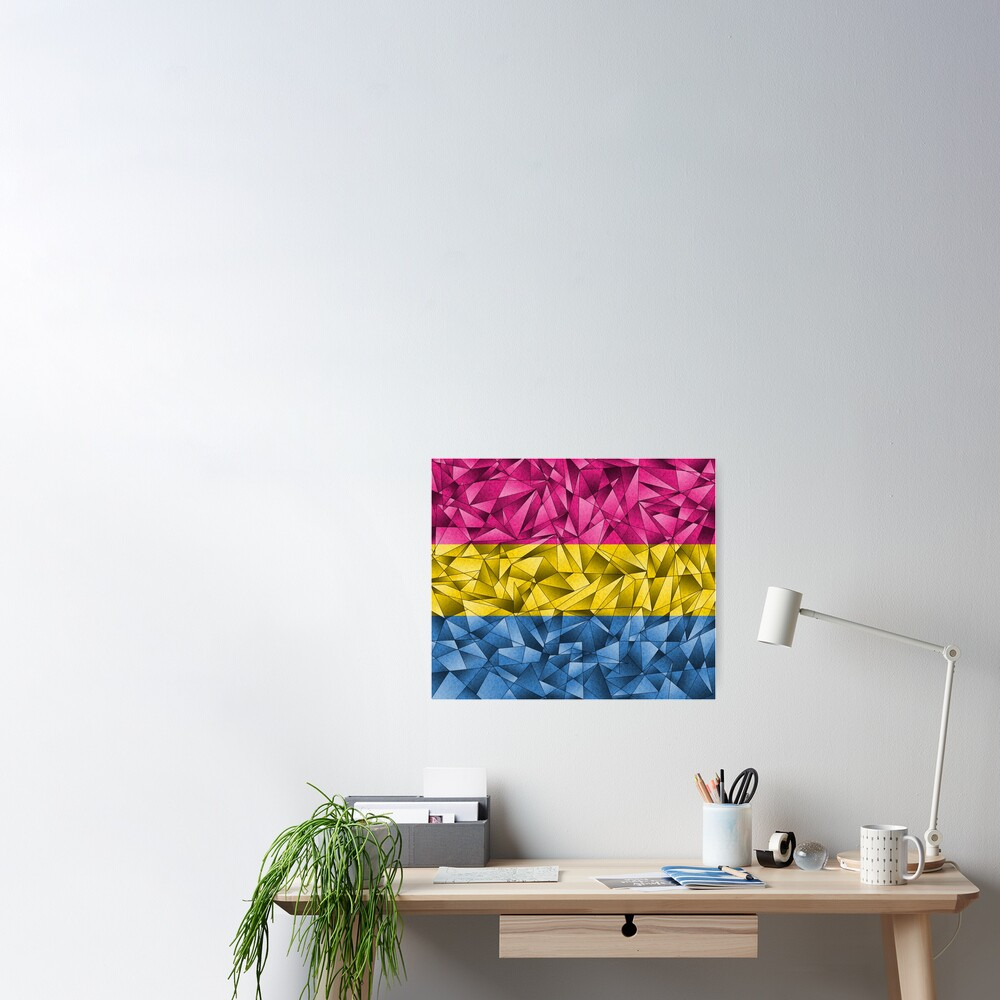Abstract Pansexual Flag Poster