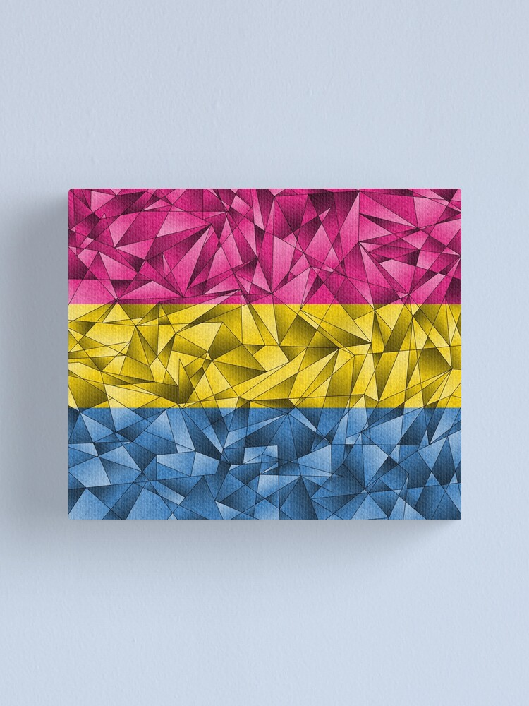 Alternate view of Abstract Pansexual Flag Canvas Print