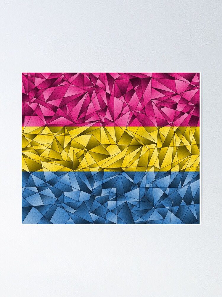 Alternate view of Abstract Pansexual Flag Poster