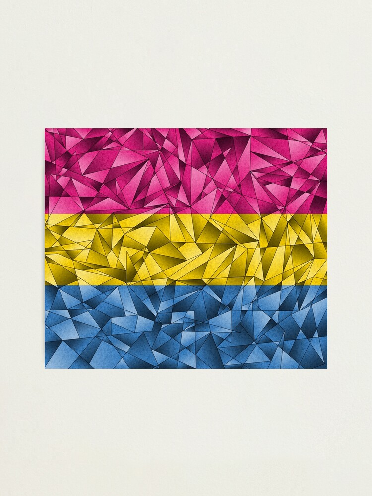 Alternate view of Abstract Pansexual Flag Photographic Print