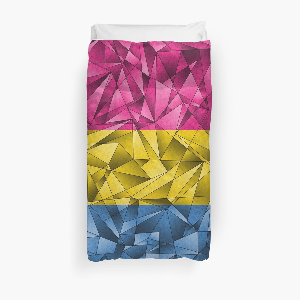 Abstract Pansexual Flag Duvet Cover