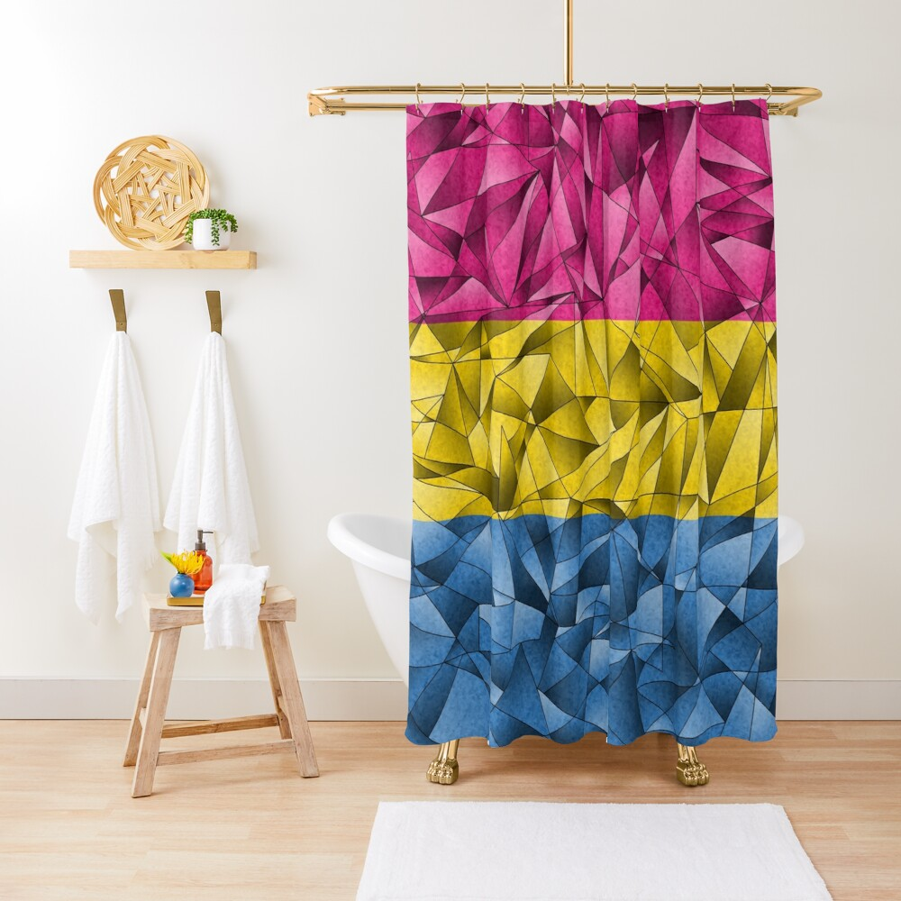 Abstract Pansexual Flag Shower Curtain