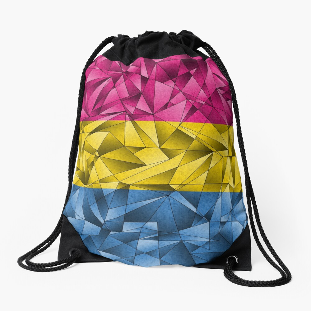 Abstract Pansexual Flag Drawstring Bag