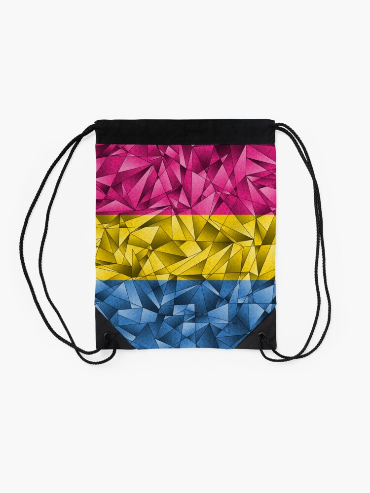 Alternate view of Abstract Pansexual Flag Drawstring Bag