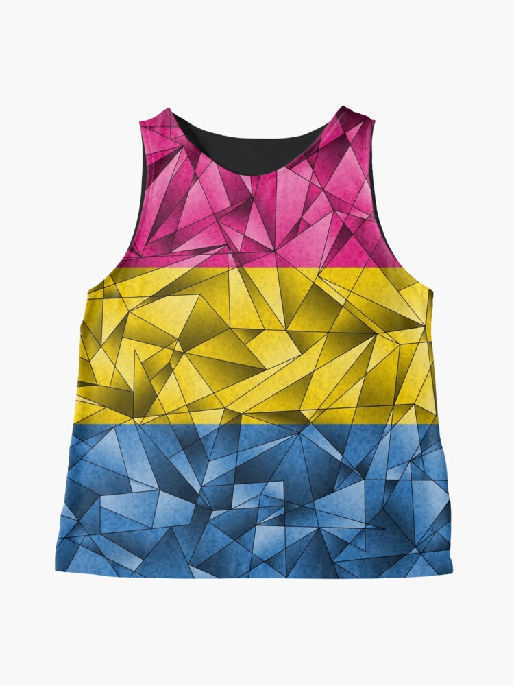 Alternate view of Abstract Pansexual Flag Sleeveless Top