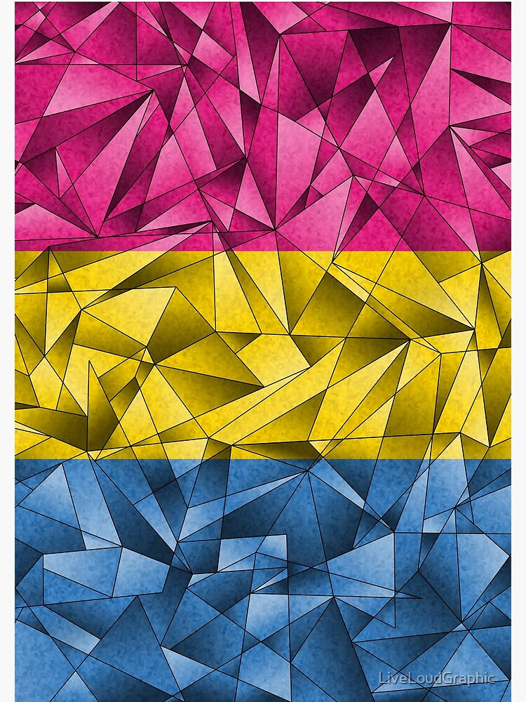 Abstract Pansexual Flag by LiveLoudGraphic