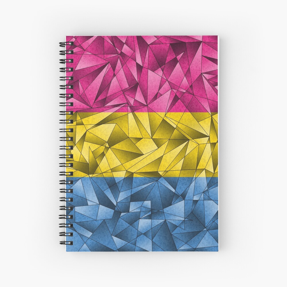 Abstract Pansexual Flag Spiral Notebook