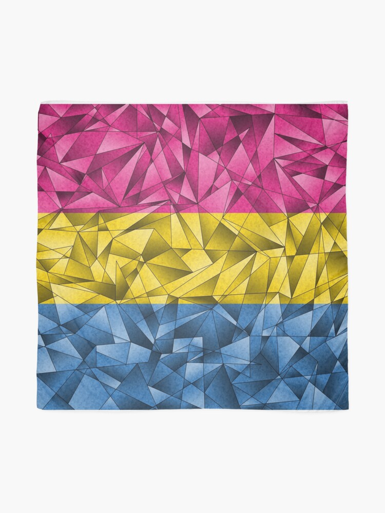 Alternate view of Abstract Pansexual Flag Scarf