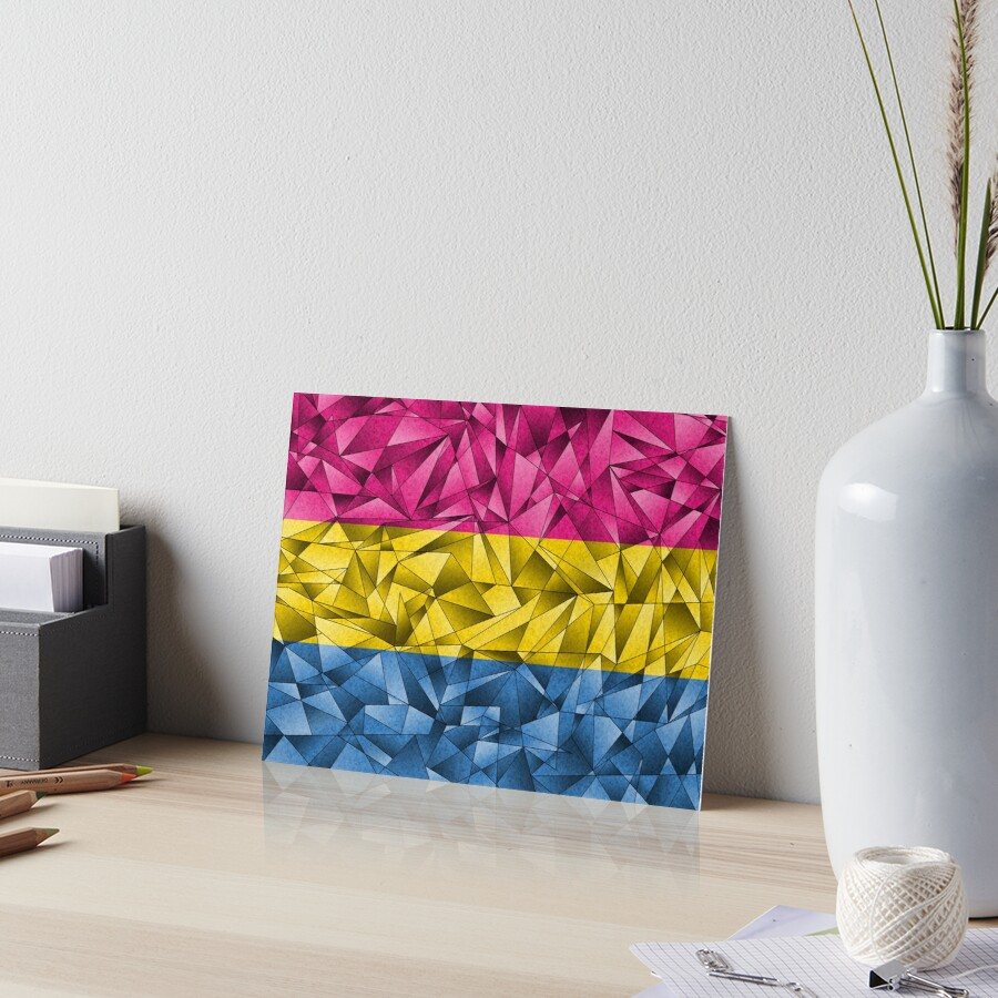 Abstract Pansexual Flag Art Board Print