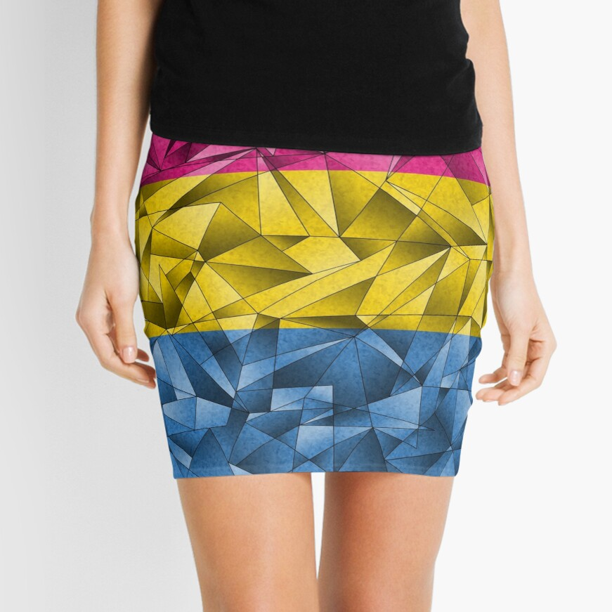 Abstract Pansexual Flag Mini Skirt