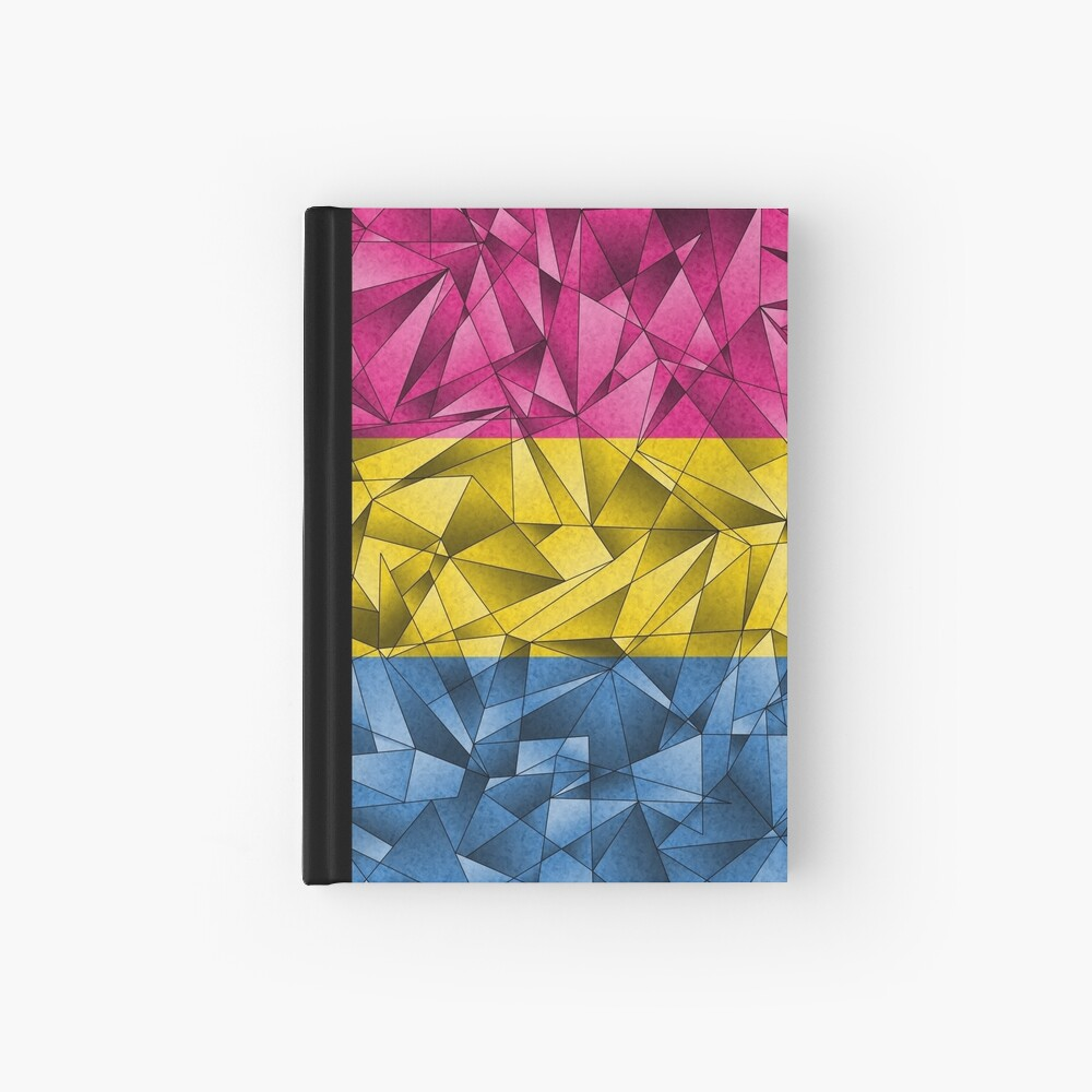 Abstract Pansexual Flag Hardcover Journal