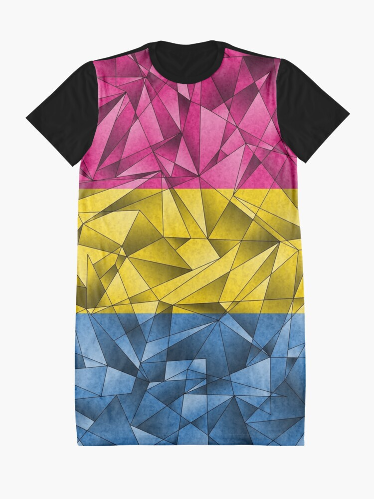 Alternate view of Abstract Pansexual Flag Graphic T-Shirt Dress