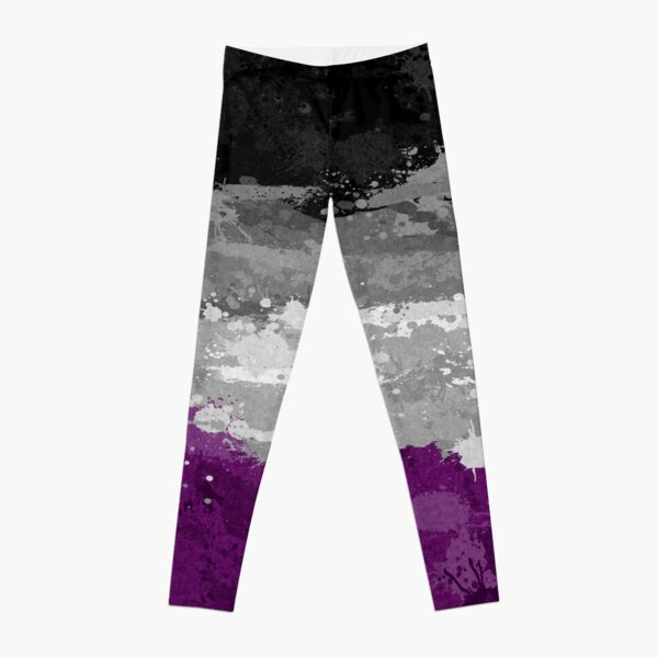 Asexual Paint Splatter Flag Leggings