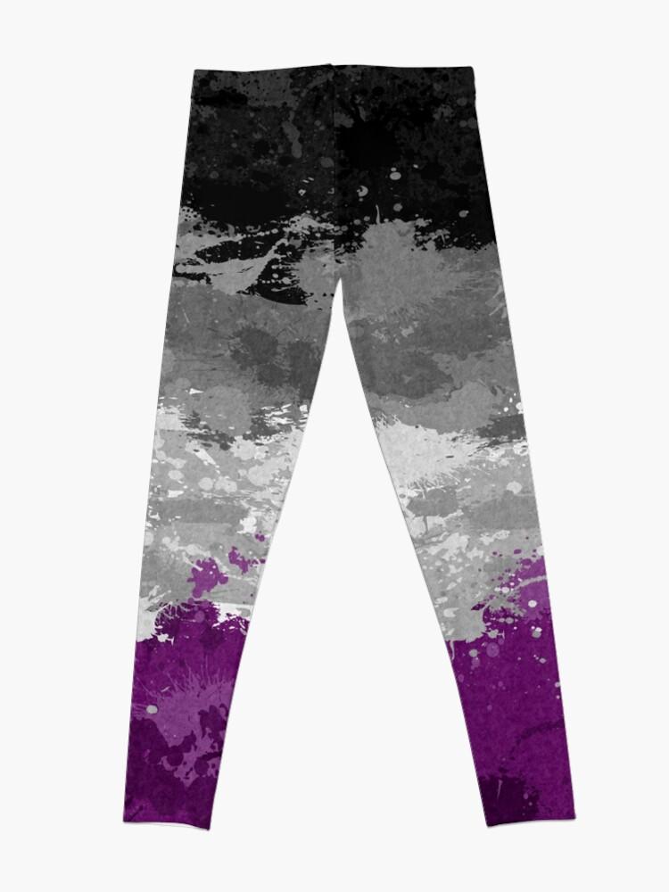 Alternate view of Asexual Paint Splatter Flag Leggings