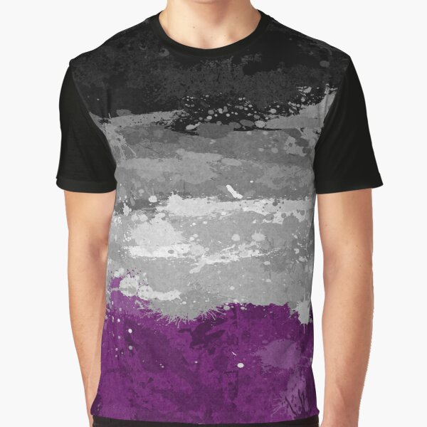 Asexual Paint Splatter Flag Graphic T-Shirt