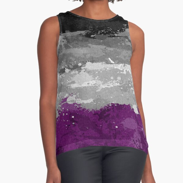 Asexual Paint Splatter Flag Sleeveless Top