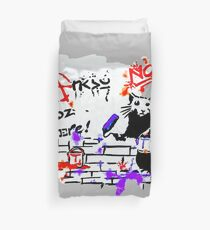 I love Banksy graffiti Duvet Cover