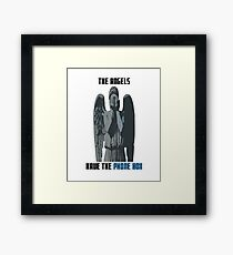 The Angels Have The Phone Box! Framed Print