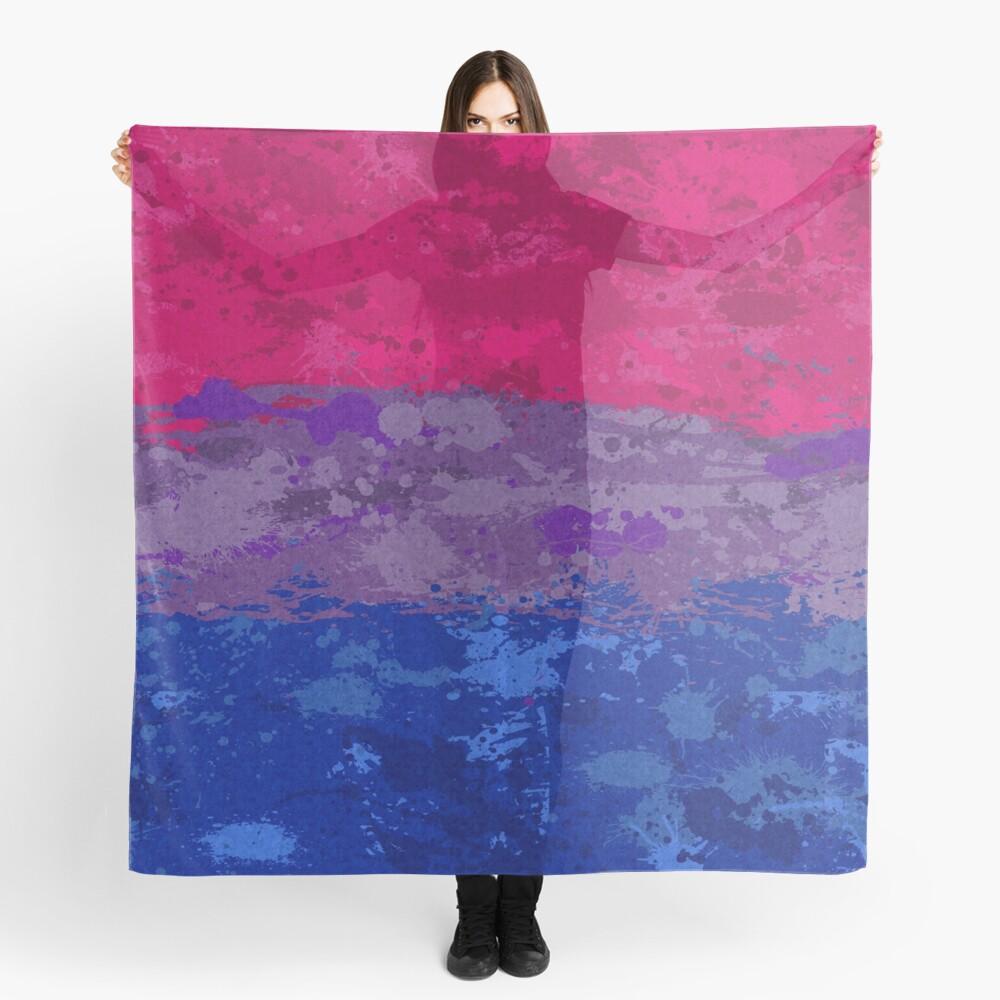 Bisexual Paint Splatter Flag Scarf