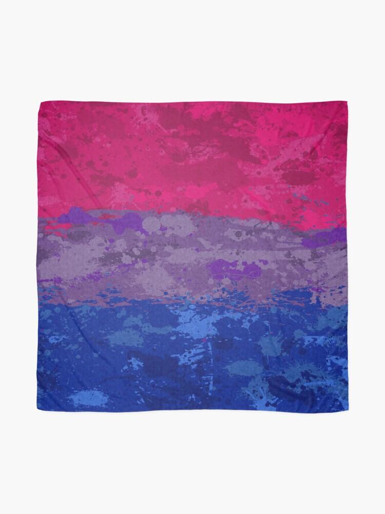 Alternate view of Bisexual Paint Splatter Flag Scarf